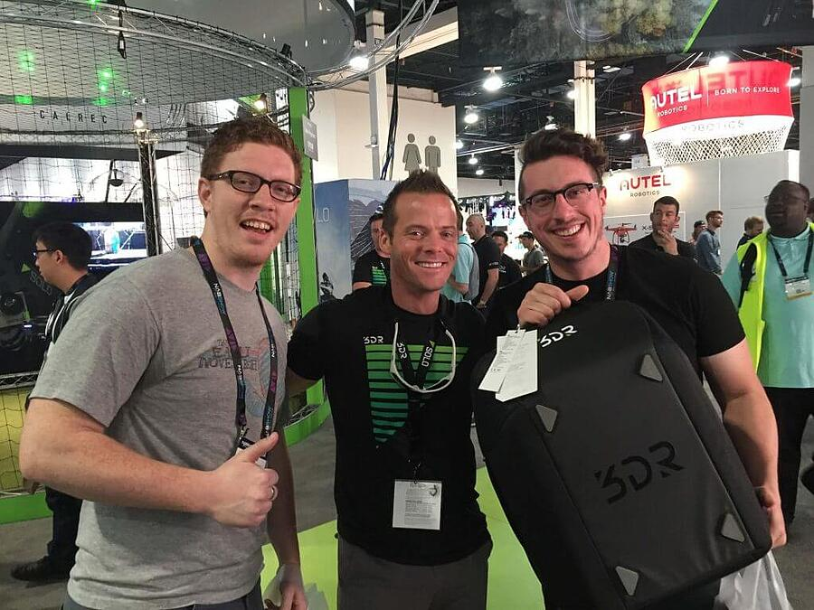 Ryan and John hanging with Colin Quinn after winning our 3DR Solo